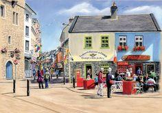 Galway Painting - Sunshine On Quay Street Galway by Irish Art