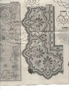 Kukicanje By Mirka 813 Crochet Doily Diagram, Filet Crochet Charts, Crochet Borders, Crochet Motif, Irish Crochet, Crochet Doilies, Crochet Patterns, Crochet Curtains, Crochet Tablecloth