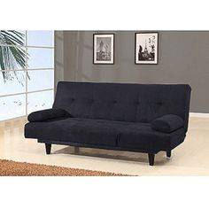 Barcelona Convertible Futon Sofa Bed and Lounger with Pillows, Multiple Colors (I would choose Sage Green), $239