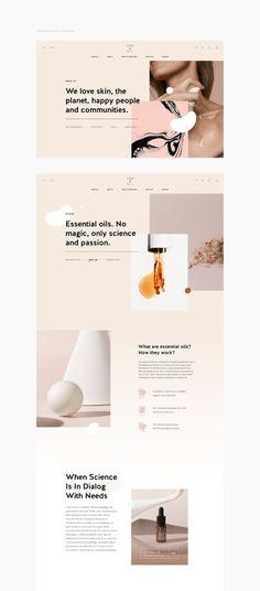 Web Design Trends, Ecommerce Website Design, Web Design Tips, Ecommerce Websites, Website Layout, Photography Website Design, Skincare Branding, Minimal Web Design, Cosmetic Design