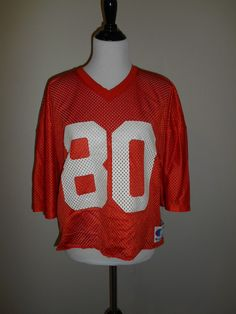Vintage orange Jersey    80                  by ATELIERVINTAGESHOP