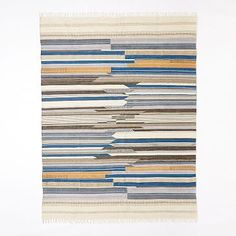 2.5x7  For under the counter stools  Mixed Stripe Wool Dhurrie #westelm