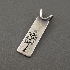 Little Long Meadow Tree Pendant by BethMillnerJewelry on Etsy, $90.00
