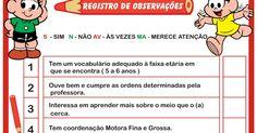 Ficha de Avaliação do Aluno - Registro de Observações