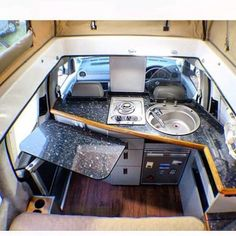 I've never seen this layout.  Kinda like it. What do y'all think? #VanCrush . . Repost from @big__skies  #vanlife