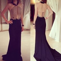 f0ebf573b Luxury 2016 Vestido De Festa Hot A line Prom Dresses Long Chiffon Sexy  Halter Neck See Through Women Evening Dresses-in Prom Dresses from Weddings    Events ...