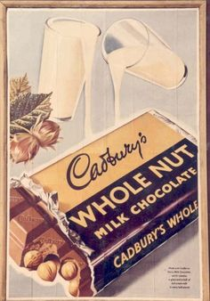 11 gloriously vintage adverts for Cadbury& chocolate · The Daily Edge - Vintage Food Posters, Vintage Advertising Posters, Old Advertisements, Pub Vintage, Vintage Signs, Vintage Music, Vintage Sweets, Retro Sweets, Etiquette Vintage