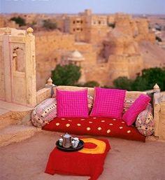 terrac, tea time, indian summer, outdoor living, color, high tea, afternoon tea, morocco, backdrop