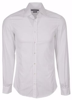New Gucci Men's 307668 White Cotton FITTED Dress Shirt 14.5 15 15.5 16 16.5 17.5 #Gucci