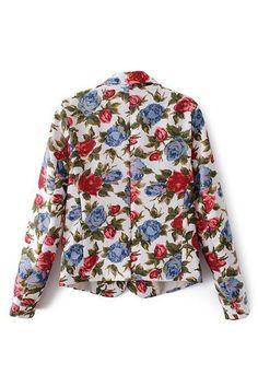 abaday | abaday de la solapa de la impresión floral de la chaqueta, la última moda de la calle