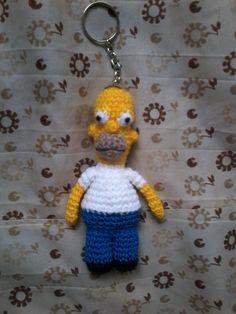 llavero homero simpson a crochet