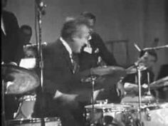 Very, very cool -- a drum battle between Gene Krupa and Buddy Rich. From The Sammy Davis Show in 1966. (And Buddy's playing Rogers!)