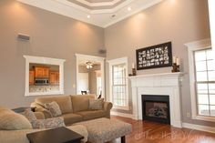Family Room - Behr Perfect Taupe So chris and I may have an obsession with neutral colors...LOVE THIS