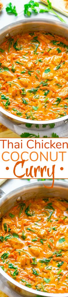 Thai Chicken Coconut Curry - Averie Cooks Red Curry Recipe, Curry Recipes, Soup Recipes, Indian Food Recipes, Asian Recipes, Healthy Recipes, Healthy Breakfasts, Thai Recipes, Vegetarian Recipes