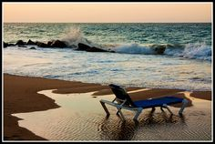 Chair On the Beach by Kevin Borland, via Flickr