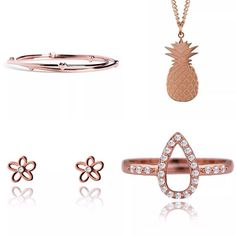 Rose Gold Jewellery | Fashion | Style | pineapple | hearts | joma jewellery Selling On Instagram, Instagram Feed, Rose Gold Jewelry, Gold Jewellery, Halo, Pineapple, Fashion Jewelry, Hearts, Stuff To Buy