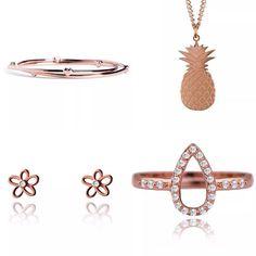 Rose Gold Jewellery | Fashion | Style | pineapple | hearts | joma jewellery