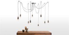 Starkey, un chandelier, laiton Home Decor Inspiration, Industrial Trend, Ceiling Lights, Lamp Light, Industrial Chandelier, Light, Chandelier, Dining Room Chandelier, Apartment Style