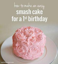 DIY Smash Cake-use Corningware instead of buying small cake pans