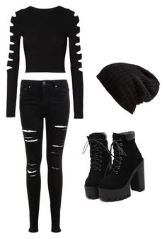 """""""Hikari outfit 1"""" by tessapitts ❤ liked on Polyvore featuring Miss Selfridge, Cushnie Et Ochs and Free People"""