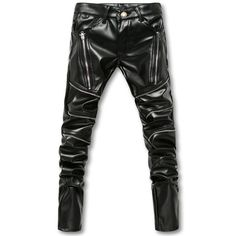 f73eee3cafb7 New Arrival Biker Skinny Men Gothic Punk Fashion Faux Leather Pants PU  Buckles Hip Hop Zippers Black Leather Trousers Male-in Skinny Pants from  Men s ...