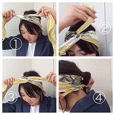 スカーフ×ヘアアレンジ4つの提案。