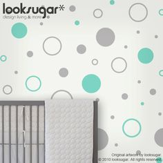 Circle Children wall stickers - Nursery wall decals - polka dot stickers - 0105. $25.00, via Etsy.