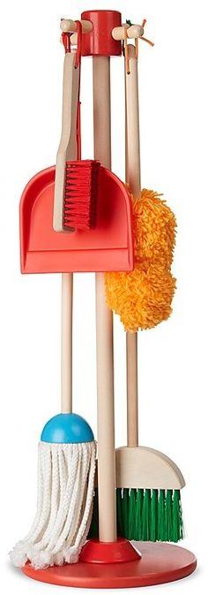 How cute is this! Perfect for toddlers eager to help! Melissa & Doug Dust! Sweep! Mop! Play Set - Ages 3+