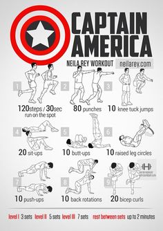 cpt. steve rogers workout