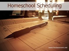Homeschool Scheduling