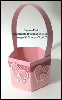 Tiny Valentine basket tutorial, but could be adapted to suit many occasions.