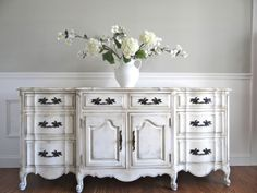 Eia Magazine Exclusive - Hand Painted Antique White French Provincial Romantic…
