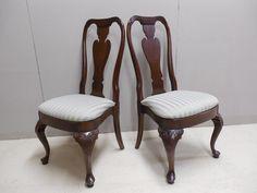Knob Creek Cherry Queen Anne Leg Pair Side Chairs QueenAnne KnobCreek