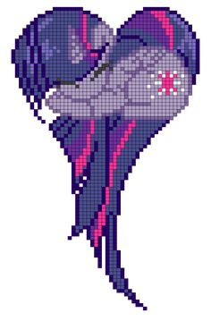 Princess Twilight Sparkle heart pattern by indidolph on deviantART