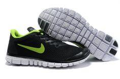 quality design 193ef dfd33 Free 3.0 V2 Macroporous Mens Black green Free Running Shoes, Black Running  Shoes, Nike
