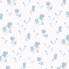 Wallpaper - Magnolia   Bay Blue - Peel & Stick / 2 x 12' panel