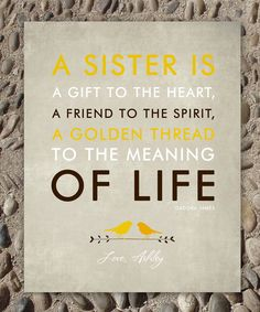 SISTERS gift print - Personalized gift for your Sister - Wedding Gift for Sister - Birthday Gift- Custom Colors print 8 x 10