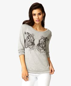 Mirrored Tiger Pullover | FOREVER21 - 2040932276
