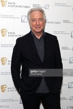 April 15, 2015 -- Alan Rickman attends the reception for 'A Life In Pictures' with Alan Rickman at Princess Anne Theatre, BAFTA in London, England.