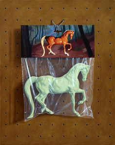 painting of a plastic horse. Simon Monk