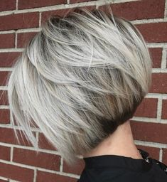 ideas for hair short blonde balayage Bobs For Thin Hair, Short Hair With Layers, Short Hair Cuts, Short Hair Styles, Blonde Balayage Bob, Ash Blonde Hair, Short Blonde, Grey Hair, Short Balayage