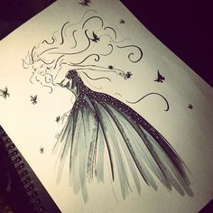 """6,051 Likes, 34 Comments - Eris Tran (@eris_tran) on Instagram: """"Wedding season!!! #sketch #sketching #drawing #draw #weddingdress #wedding #bridal #fashion…"""""""