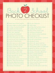 FREE Back to School Photo Checklist and FREE Back to School Printables on Frugal Coupon Living