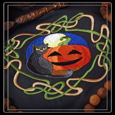 Wheel of the Year, Samhain Altar Cloth or to use as Cloth for a Halloween Table Center Piece.