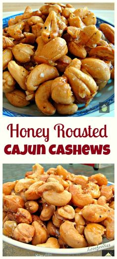 ***MADE***Honey Roasted Cajun Cashews. Easy to make and the flavor combination works really well. Great for parties, movie nights, game nights or just to have all on your own! Nut Recipes, Snack Recipes, Cooking Recipes, Smoker Recipes, Spiced Nuts, Roasted Nuts, Honey Roasted Cashews Recipe, Good Food, Veggies