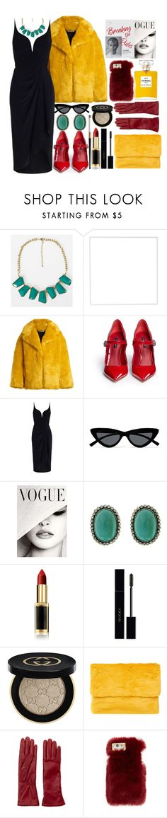 """Cruella De Vil"" by i-reti-illustration ❤ liked on Polyvore featuring BKE, Menu, Diane Von Furstenberg, Dolce&Gabbana, Zimmermann, Le Specs, L'Oréal Paris, Gucci, Oui, Odile! and Labonia"