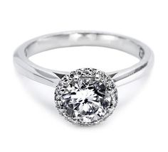 """A lovely Tacori solitaire, with exceptional details and the """"Tacori touch"""".  (style no. 2502RD65)"""