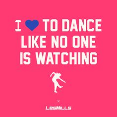 Valentines cards - Les Mills style. I Love to Dance like no One is watching - with les mills BODYJAM!