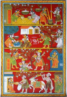 Art Painting, Madhubani Art, Mandala Design Art, Phad Painting, Art Village, Madhubani Painting, Buy Canvas Art, Kalamkari Painting, Tribal Art Designs