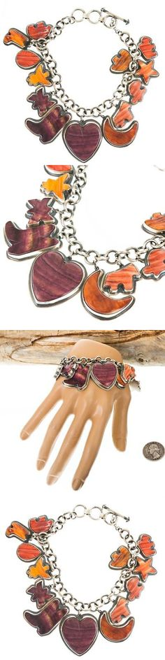 Charms and Charm Bracelets 52562: Navajo Charm Bracelet Sterling Silver Heart Angel Butterfly Star Native American -> BUY IT NOW ONLY: $420.75 on eBay!